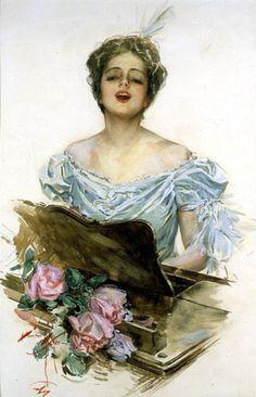 Harrison Fisher (Harrison Fisher 1877 − 1934 I love the way he paints women…