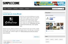Simple Core Blogger Template