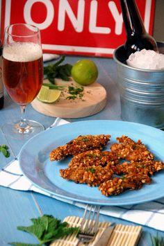 Snacks de pollo a a cerveza y kikos by Loleta.es