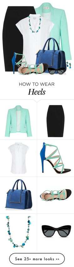 If only I could wear open toed shoes and a skirt to work. love the color combinations Komplette Outfits, Classy Outfits, Fashion Outfits, Womens Fashion, Fashion Trends, Office Fashion, Work Fashion, Fashion Looks, Professional Attire