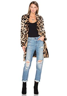 NEED  House of Harlow 1960 x REVOLVE Genn Faux Fur Coat in Leopard | REVOLVE