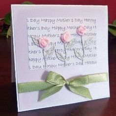 Cute Mother's day card, DIY