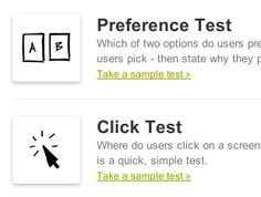 testing software that offers click tests, memory tests, mood tests, preference tests, annotate tests, label tests, multi-page click tests, and linked tests