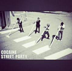 cocaine street party -x- Good Smile, Psychedelic Art, Cool Pictures, Funny Pictures, Illustration, Lol, In This Moment, Black And White, Street