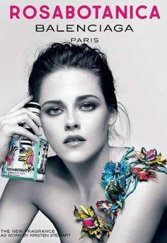 Kristen Stewart topless voor parfum Balenciaga