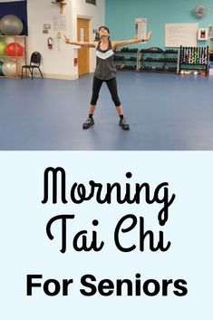 Wake up your body and energize your mind with this quick morning Tai Chi exercise for beginners. Incorporate these Tai Chi exercises for seniors into your morning routine to energize the mind and unlock your joints and muscles. Body Fitness, Fitness Video, Physical Fitness, Health Fitness, Fitness Style, Fitness Men, Fitness Design, Fitness Quotes, Fitness Logo