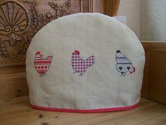Cross Stitch Chicken Tea Cosy - Folksy
