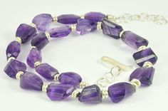Maggie Laing, amethyst necklace with silver beads