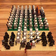 First Order Empire and Republic group shot. I'm starting to organize my various Star Wars troops. This is a fun project . #Lego #moc #afol  #brickshelf #brickstagram #instalego #legofan #legobricks #legoaddict #legoaddicted #lego365 #legocreator #legopic #legoman #legobuilder #legostagram #legophotography #legominifigures #legostarwars #starwars #stormtrooper #firstorder #clonetrooper #minifigures #brickcentral #bricknetwork by mrbookieboo