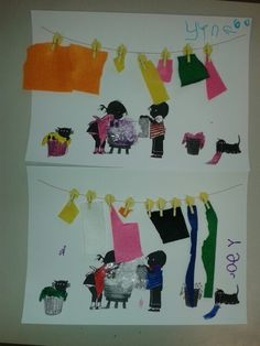 Jip and Janneke do the laundry. Cut felt yourself and stick clothespins . suds of … – Knippen Toddler Preschool, Toddler Crafts, Clothing Themes, School Art Projects, Arts Ed, Creative Kids, Schmidt, Felt, Clothespins