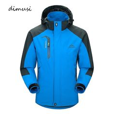 DIMUSI Men's Sports Casual Windproof and Waterproof Thick Parka Winter Jacket Hiking Jacket, Running Jacket, Windbreaker Jacket, Hoodie Jacket, Suit Jacket, Types Of Jackets, Warm Coat, Outdoor Outfit, Athletic Wear