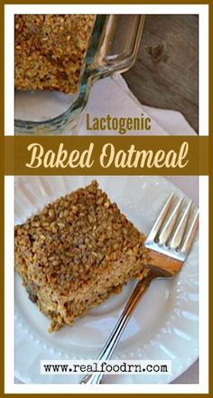 So, being ever fond of baking in batches -- especially in a baking dish where I can just cut and serve -- I came up with my lactogenic baked oatmeal. Huge time saver, and big milk producer!!!