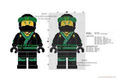 Lego Ninjago Lloyd free cross stitch pattern 40x64