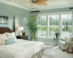Calming Bedroom Color Ideas - Home Interior Design - 29874 Green Bedroom Colors, Calming Bedroom Colors, Bedroom Color Schemes, Tranquil Bedroom, Bedroom Neutral, Soothing Colors, Colour Schemes, Soft Colors, Green Bedroom Walls