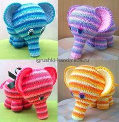 Вяжем своими руками мягкую игрушку «Радужный слон»