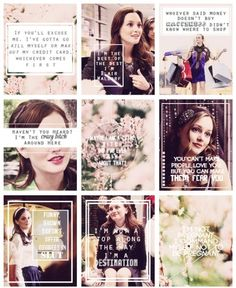 Blair Waldorf quotes Leighton meester Gossip girl scenes Xoxo