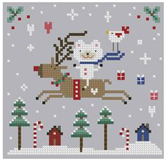 The Floss Box | Christmas Joy Ride Cross Stitch