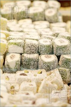authentic turkish delight | of One of the most famous authentic Turkish dessert, Turkish Delight ...