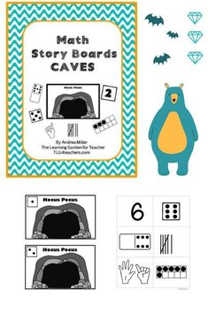 Math Story Cards are the perfect tool for providing repeated math skills and practice in a way that allows for variety and use of imagination. Story boards can be used for teaching number sense, composing and decomposing numbers, adding and subtracting nu Bear Theme Preschool, Halloween Theme Preschool, Preschool Activities, Subitizing Activities, Number Sense Activities, Print Awareness, Handwriting Activities, Dramatic Play Centers, Decomposing Numbers
