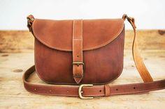 MESSENGER BAG // Sac a main en cuir messenger // Sac en cuir femme // Sac bandoulière // Sac à main en cuir