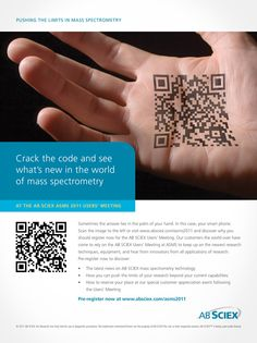 AB Sciex Print Ad Mass Spectrometry, Palm Of Your Hand, Print Ads, Creative Director, Leadership, Abs, Coding, Branding, Marketing