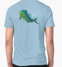 """El Dorado"" T-Shirts & Hoodies, art by Amber Marine | #mahimahi #dolphin #fish ••• AmberMarineArt.com •••"
