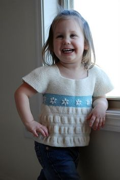 Free Knitting Pattern - Toddler & Children's Clothes: Tea Party Frock Top p