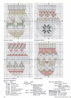 Ideas knitting christmas ornaments cross stitch for 2019 Cross Stitch Christmas Ornaments, Xmas Cross Stitch, Christmas Embroidery, Christmas Knitting, Christmas Cross, Cross Stitch Charts, Cross Stitch Designs, Cross Stitching, Cross Stitch Embroidery