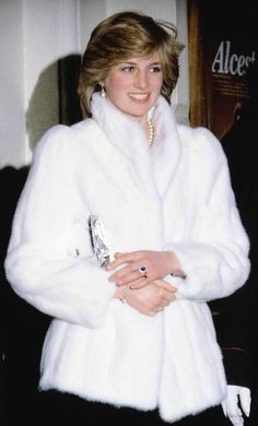 "March 8, 1982: Princess Diana at the theatre to see Elizabeth Taylor in ""The Little Foxes."""