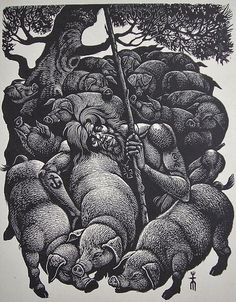 Fritz Eichenberg | The Prodigal Son ~ wood engraving