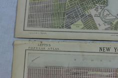 2x ORIGINAL VICTORIAN NEW YORK MAPS FROM LETTS'S POPULAR ATLAS 1883 - P131/2 | eBay