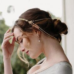 Moroccan bridal hair chain headpiece - Style Double Take no. 2139 by EricaElizabethDesign on Etsy https://www.etsy.com/listing/267294471/moroccan-bridal-hair-chain-headpiece