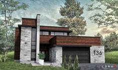 Notre plan de maison moderne Ë_136 est vendu directement en ligne et est déjà réfléchi selon les plus hauts standards de l'industrie.