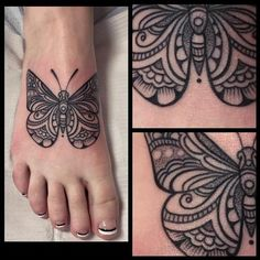 Laura Jade - Black and gray butterfly