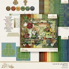 Sherwood Studio has a unique St Patrick's Day inspired digital scrapbooking kit called LOVE & LAUGHTER http://www.thedigichick.com/shop/Love-and-Laughter-Bundle.html It is full of rich, earthy colors and Celtic motifs combined with vintage touches to create a bit of the old world, but still practical enough for daily scrapping.