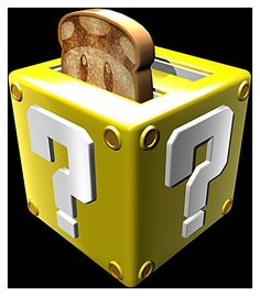Super Mario, Friends and Family!. #Prototype #Custome #Build  #Toaster #Nintendo #Game #Character #Questionmark.