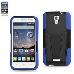 Reiko Silicon Case+Protector Cover Alcatel Onetouch Pop Astro New Type Kickstand Navy Black