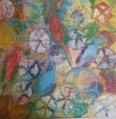 Hunt Slonem Oil on Canvas from Bellangelo Gallery