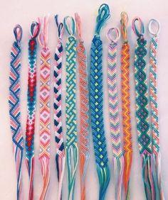 45 Wonderful DIY Bracelet Ideas You Will Totally Love – Armband – - Diy Jewelry İdeas Yarn Bracelets, Summer Bracelets, Bracelet Crafts, Love Bracelets, String Bracelets, Braclets Diy, Ankle Bracelets, Handmade Bracelets, Diy Embroidery Bracelets