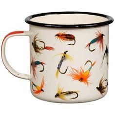 Buy Hook Line and Sinker Flies Enamel Mug Online in Canada | FREE Ship $29+