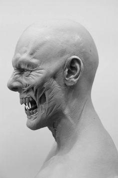 A stunning 'Dracula Untold' concept sculpt by the phenomenal prosthetic makeup artist Josh Weston Más Creature Feature, Creature Design, Character Art, Character Design, Zbrush Character, The Dark Side, Traditional Sculptures, Prosthetic Makeup, Anatomy Sketches