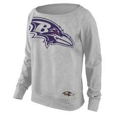 Nike Baltimore Ravens Ladies Wildcard Epic Tri-Blend Performance Sweatshirt - Ash