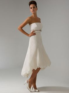 attractive empire strapless asmmetry sash wedding dresses bridesmaid different colors