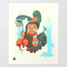 Mayan priest Art Print by Sen Powell - $16.00