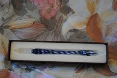 Handblown French Glass Pen by D Nore by MarieEstorgeDesigns, $69.00