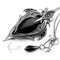YZANDRIELL - silver and black onyx by LUNARIEEN.deviantart.com on @deviantART
