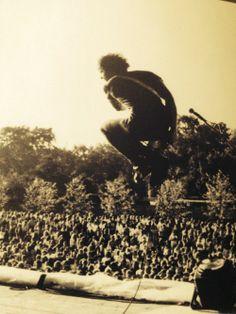 JJ Burnel (Stranglers) at Battersea Park, London 1978.