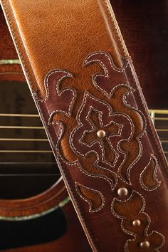 Brown Guitar Strap Leather Guitar Strap by EthosCustomBrands, $250.00