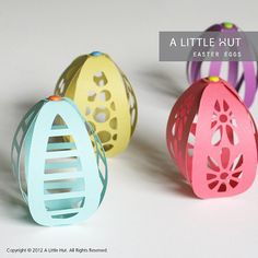 Easter eggs and bows  SVG & DXF files by ALittleHut on Etsy, $3.99
