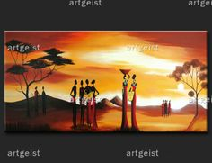 """Il quadro """"Nello splendore dell'Africa"""": una delle proposte della collezione http://www.artgeist.it/quadri/quadri-africani.html"""